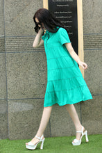 Load image into Gallery viewer, Pregnant Women Summer Short Sleeve Thin Plus Fat Loose Pregnant Women Dress