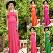 Load image into Gallery viewer, Women Popular Suspender Fashion Bohemia Long Dress Pregnant Women Maternity Dress