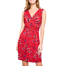 Load image into Gallery viewer, Maternity Dress Printed Sleeveless V-neck Breast Cross Nursing Dress