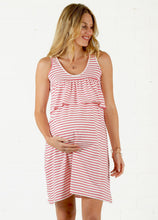Load image into Gallery viewer, Popular Maternity Dress Stripe Dress Breast-feeding Dress