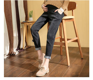 Maternity Spring Pregnant Women Long Pants Loose Jeans Belly Pants