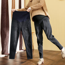 Load image into Gallery viewer, Maternity Spring Pregnant Women Long Pants Loose Jeans Belly Pants