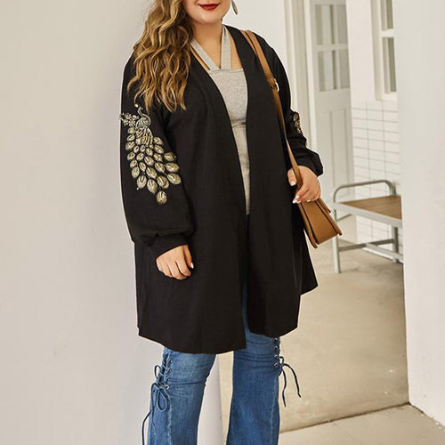 Maternity Long Sleeve Solid Color Loose Knit Cardigan