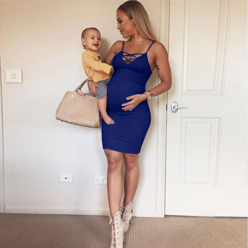 Sexy Suspender Maternity Dress