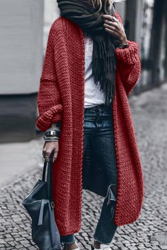 Spring And Autumn Long Sleeve Knitted Casual Loose Coat