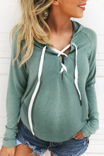 Load image into Gallery viewer, Maternity Crossover Long Sleeve Top