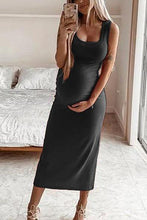 Load image into Gallery viewer, Maternity Round Neck Vest Pencil Dress Slim  Dress