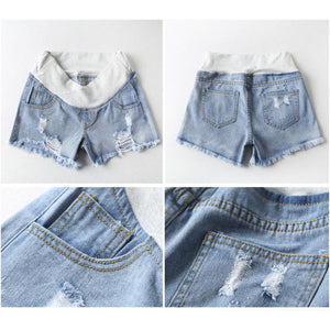 Maternity Abdomen Supportive Ripped Jeans