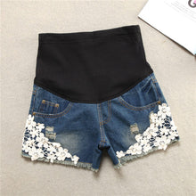 Load image into Gallery viewer, Maternity Fashion Denim Shorts