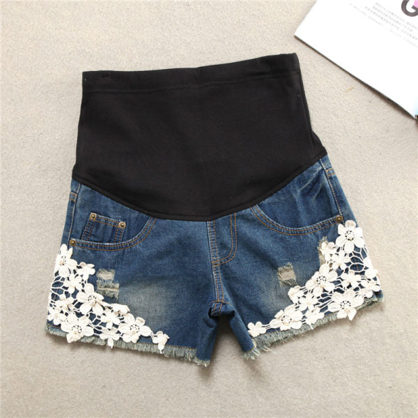 Maternity Fashion Denim Shorts