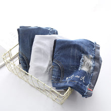 Load image into Gallery viewer, Maternity Abdomen Supportive Ripped Jeans