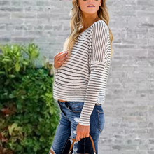 Load image into Gallery viewer, Maternity Casual Long Sleeve Striped Loose T-Shirts