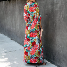 Load image into Gallery viewer, Maternity Leisure Holiday Bracelet Sleeve Printed Maxi Dress