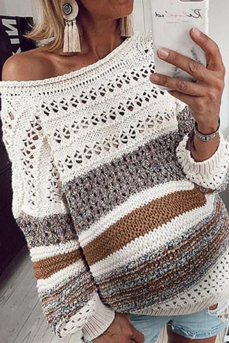 Maternity Casual long-sleeved cut-out Loose sweater