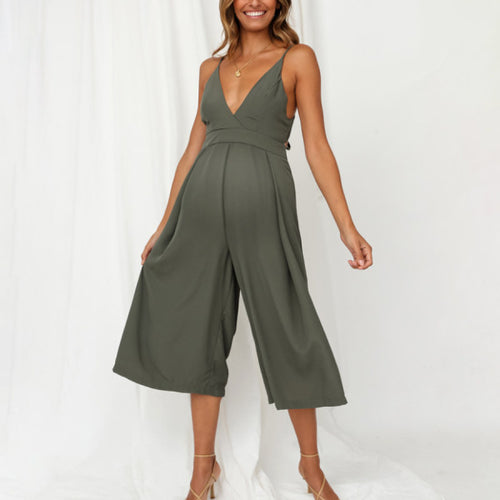 Maternity Tie-up Back Jumpsuit