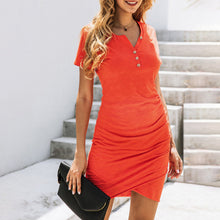 Load image into Gallery viewer, Maternity Fashion Casual Solid Color Dress