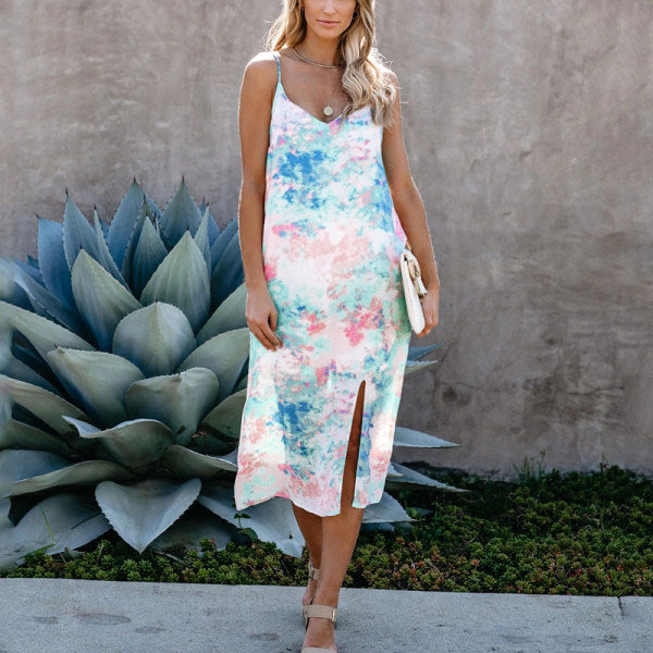 Maternity Tie Dye Midi Dress