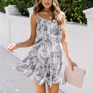Maternity Rope Tie Mini Dress