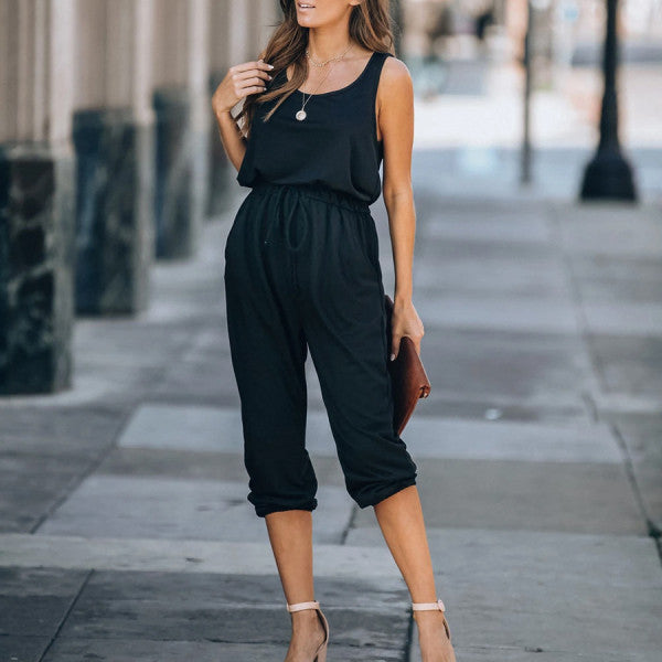 Maternity Pocketed Jumpsuit