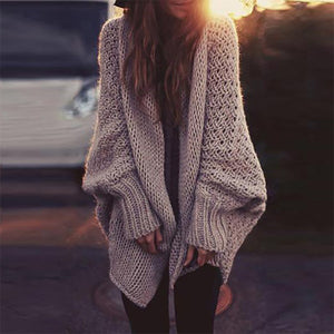 Maternity Casual Bat-sleeved Cardigan Sweater Overcoat