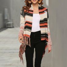 Load image into Gallery viewer, Maternity Bohemian Fringed Sweater Knit Shawl