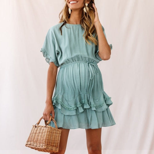 Maternity Tassel Hem Dress