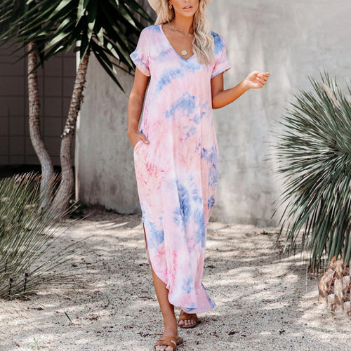Maternity Tie Dye Maxi Dress