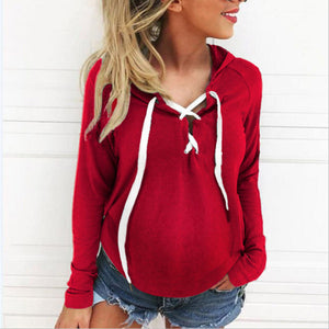 Maternity Crossover Long Sleeve Top