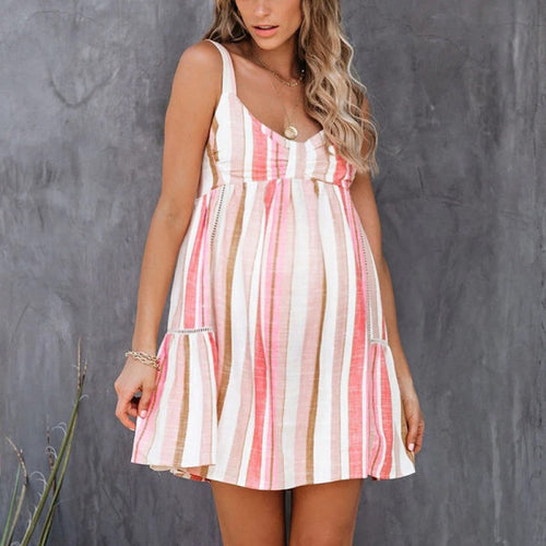 Maternity Fixed Straps Mini Dress