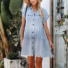 Load image into Gallery viewer, Maternity Denim Mini Dress