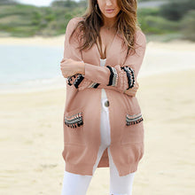 Load image into Gallery viewer, Maternity Fashion Splicing Long Sleeve Long Cardigan
