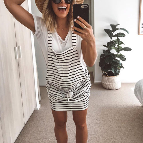Maternity Striped Casual Dress