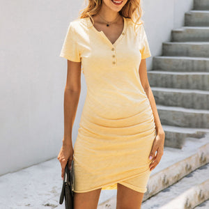 Maternity Fashion Casual Solid Color Dress