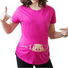 Load image into Gallery viewer, Casual Simple Cute Baby Print Maternity T-Shirts