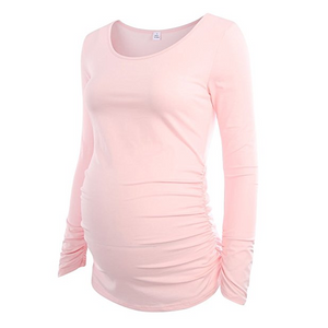 Fashion Casual Simple Maternity Ruched T-Shirts