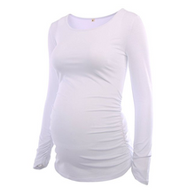 Load image into Gallery viewer, Fashion Casual Simple Maternity Ruched T-Shirts