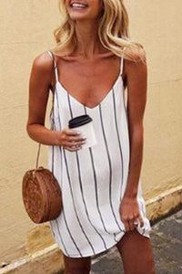 Maternity Sexy Striped Halter Casual Dress