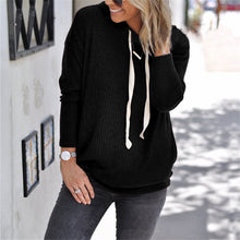 Load image into Gallery viewer, Maternity Solid Color Drawstring Hooded Sweater