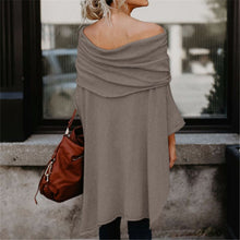 Load image into Gallery viewer, Maternity Loose Off Shoulder Irregular Hem Strapless Sweatershirts