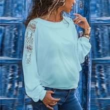 Load image into Gallery viewer, Maternity Solid Color Hollow Long Sleeve Loose Lace T-Shirts