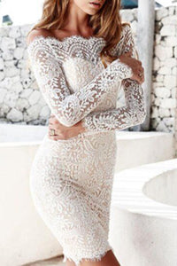 Maternity Fashion Sexy Off Shoulder Lace Bodycon Dress