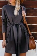 Load image into Gallery viewer, Maternity Casual Solid Colour Long Sleeve Dress