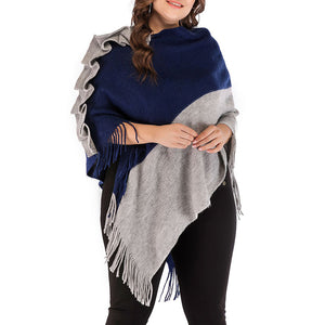 Maternity Fashion Stitching color Top Shawl