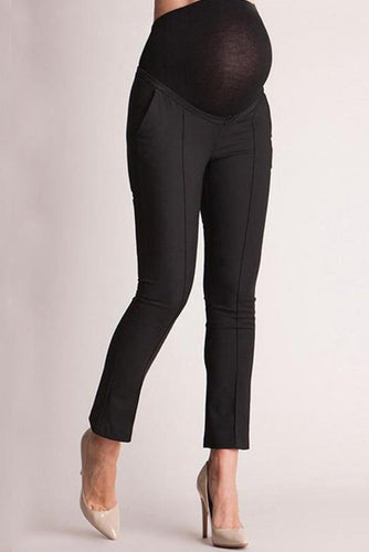 Maternity High Waist Slim Pencil Work Pants