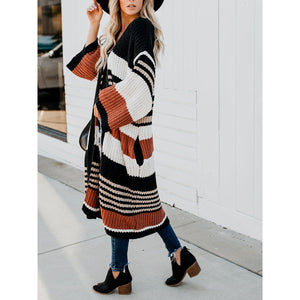 Maternity Fashion casual color matching cardigan