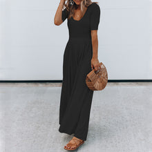 Load image into Gallery viewer, Maternity Solid Color Short Sleeve Wide Leg Jumpsuits