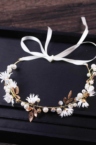 Simple Small Daisy Crystal Twisted Bead Hair Accessories