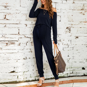 Maternity Solid Colour Long Sleeve Elastic Jumpsuits