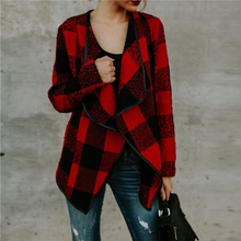 Load image into Gallery viewer, Maternity Plaid Lapel Woolen Coat