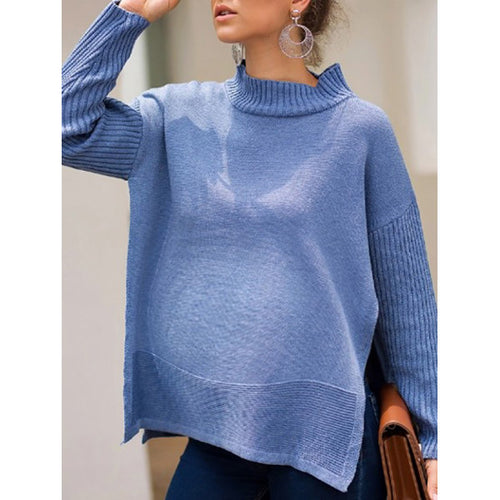 Maternity Long-Sleeved Round Neck Sweater